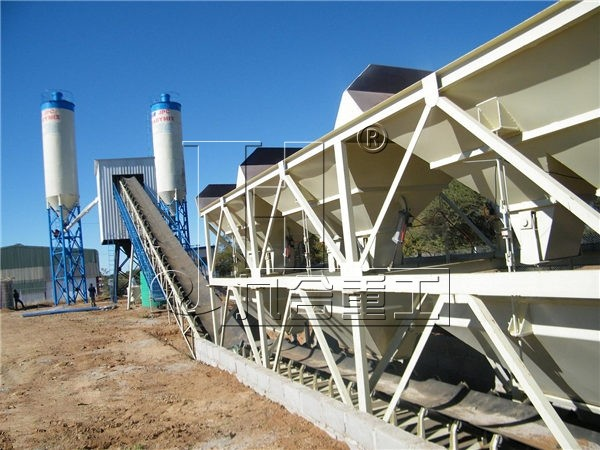 HZS60 Small Concrete Mixing Plant
