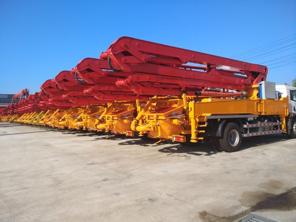 25m small concrete boom pump truck with ISUZU chassis