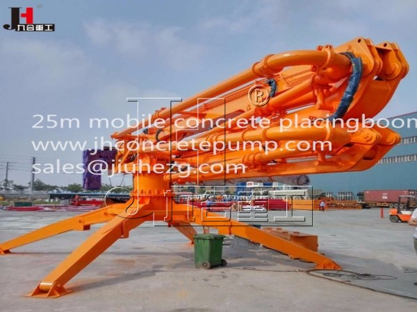 HGY25 25m mobile concrete placing boom