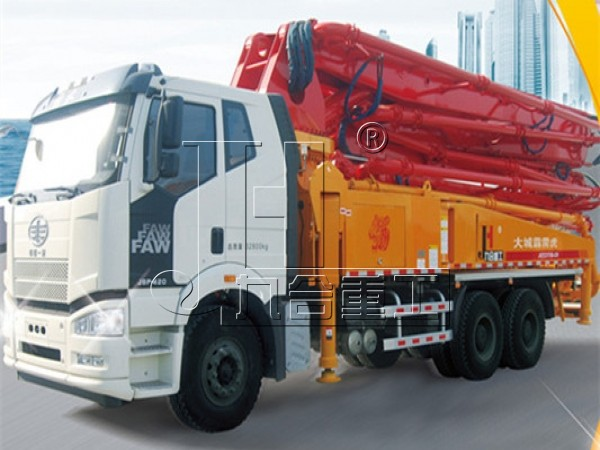 China factory 37m 38m 42m 56m 63m concrete boom pump truck for hot sale