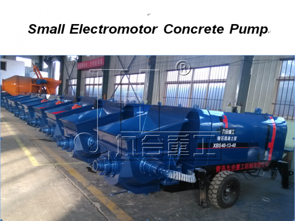 small concrete pumps