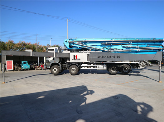 56m concrete boom pump truck with ISUZU chassis