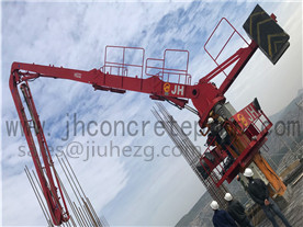 33m self-climbing concrete placing boom at SA